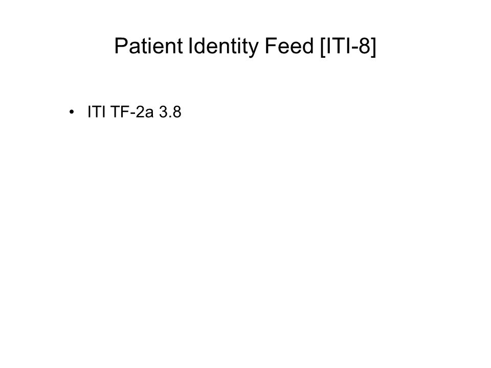 Patient Identity Feed [ITI-8]